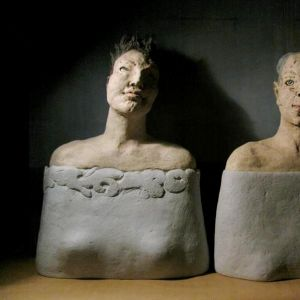 Two busts of the Women, 50 cm