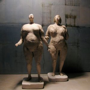 Two nude Girls, about 24 cm