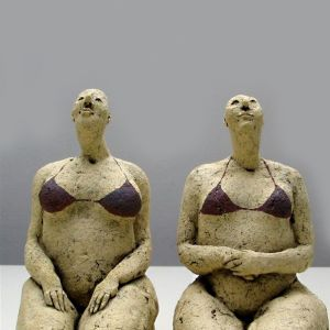 Swimmers, sitting, 14 cm