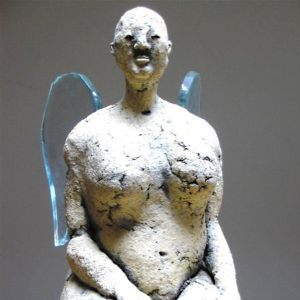 Angel, sitting, 29 cm