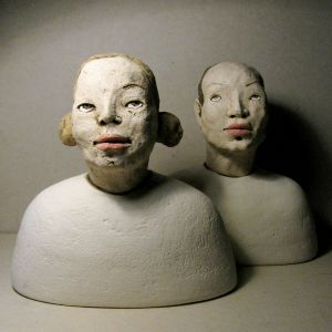 Sisters, busts, 21- 22 cm