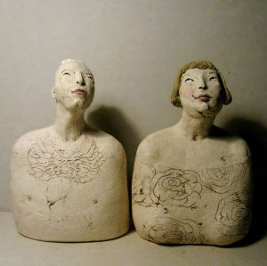 Couple, busts, 18 cm
