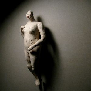 Woman, nude, in white 25 cm