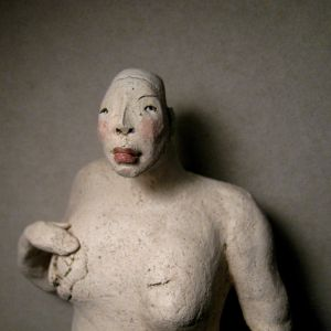 Woman, nude, in white, 25 cm