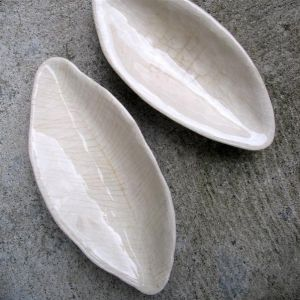 Leaf and Boat, bowls, 21- 22cm